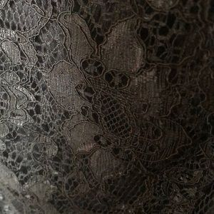 Forever 21 Tops - Forever 21 black lace peplum open back top size S